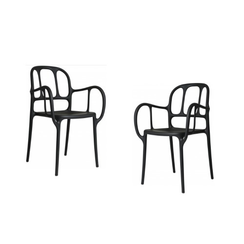 MILA CHAIR - 2 PCS NOIR