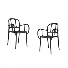 MILA CHAIR - 2PCS BLACK