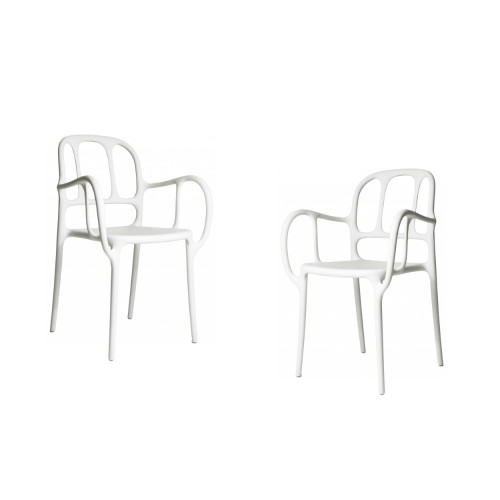 MILA CHAIR - 2 PCS BLANC