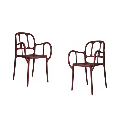 MILA CHAIR - 2 PCS ROUGE