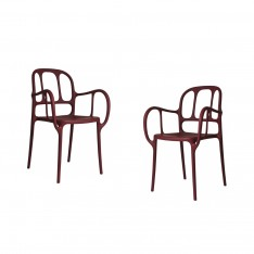 MILA CHAIR - 2PCS RED