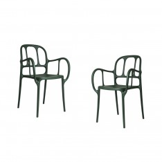 MILA CHAIR - 2PCS GREEN