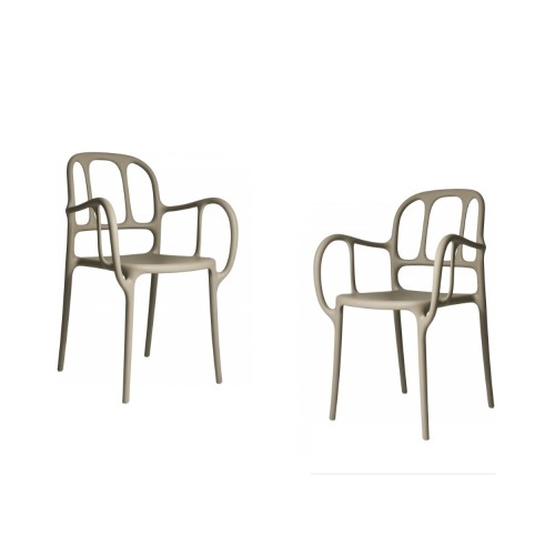 MILA CHAIR - 2PCS BEIGE