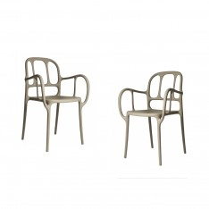 MAGIS MILA CHAIR - 2PCS BEIGE