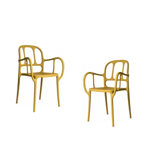 MILA CHAIR - 2 PCS JAUNE