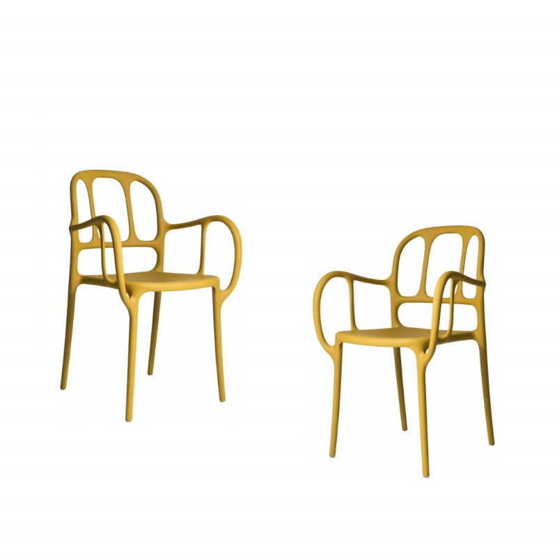 MILA CHAIR - 2PCS YELLOW