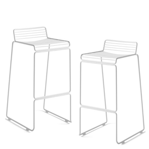 HEE BAR STOOL - 2PCS WHITE