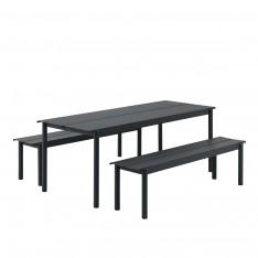 SET TABLE LINEAR 200CM + 2 BANCS
