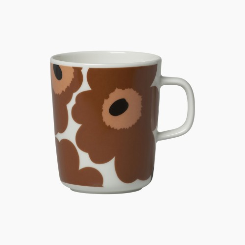 OIVA/UNIKKO MUG 2.5DL BROWN-ROSE