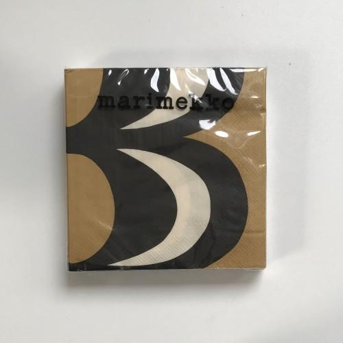 MARIMEKKO PAPER NAPKIN - LARGE - KAIVO BLACK CREAM