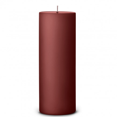 PILLAR CANDLE -25CM- RUST RED