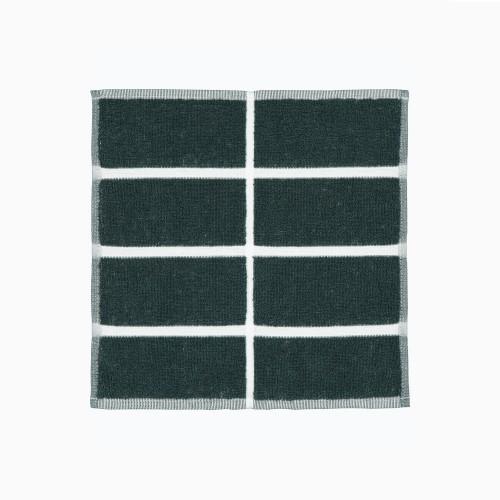TIILISKIVI GUEST TOWEL 30X30CM DARK GREEN